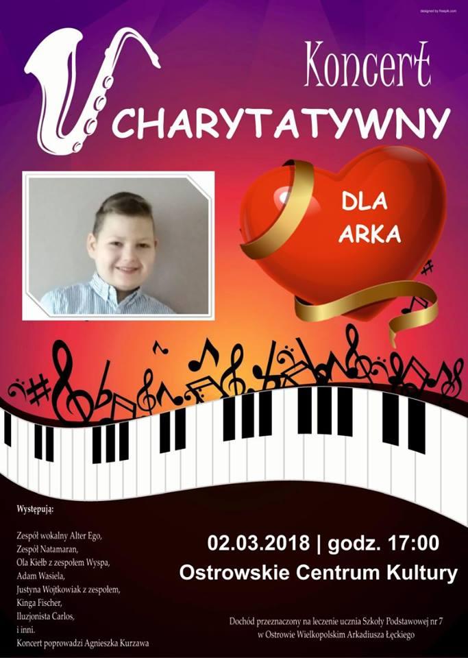 Koncert charytatywny dla Arka